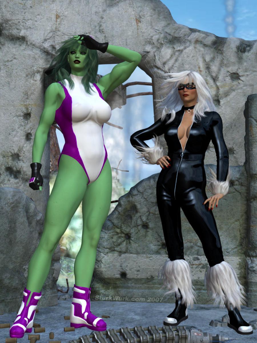 She Hulk and Black Cat