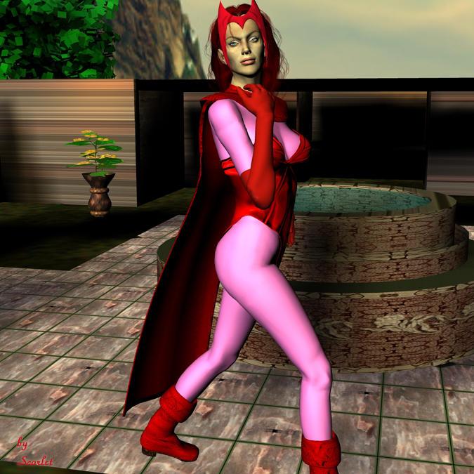 Scarlet Witch in Garden