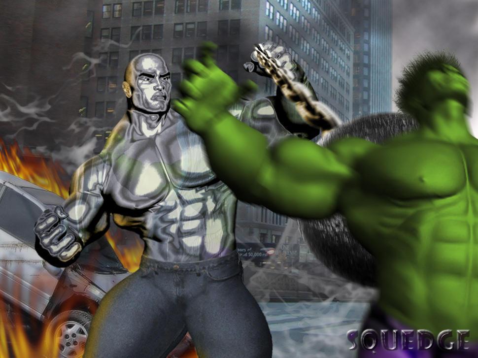 Challenge Of The Artists: Absorbing Man vs. Hulk