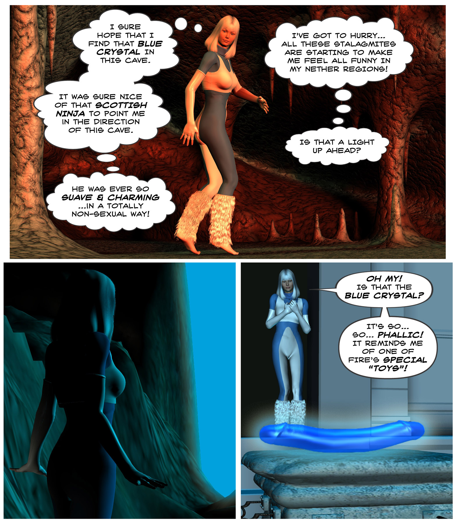 """SMACKDOWN ROUND 2: """"The Cave of the Blue Crystal"""""""