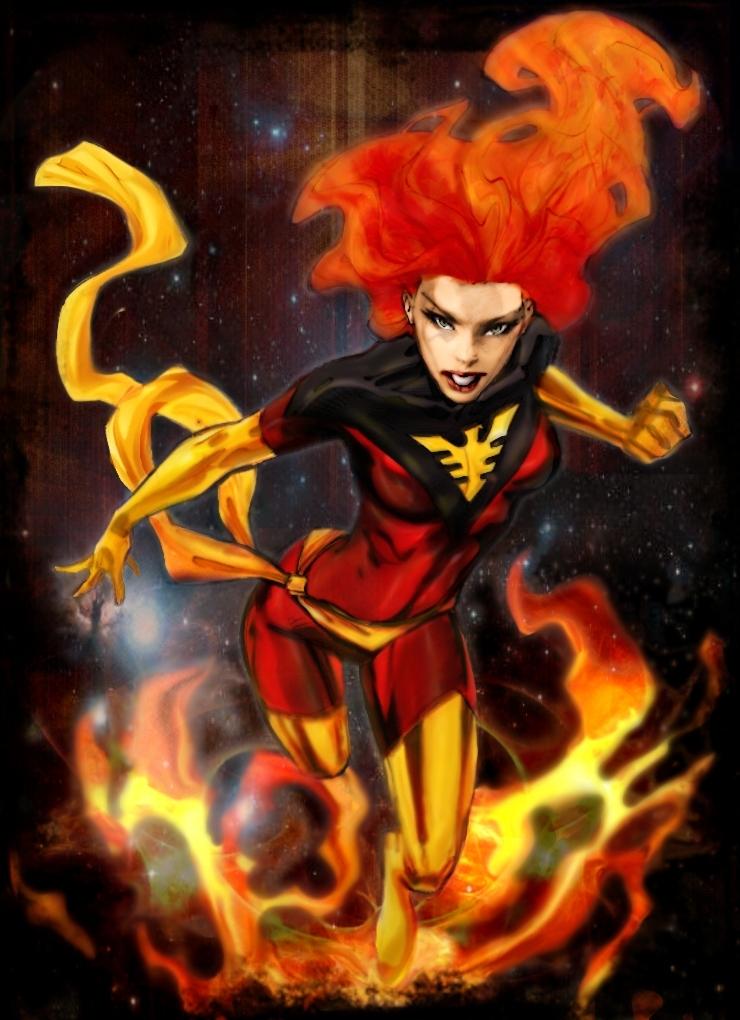 Dark Phoenix by Randy Green colored by Moira MacTaggert