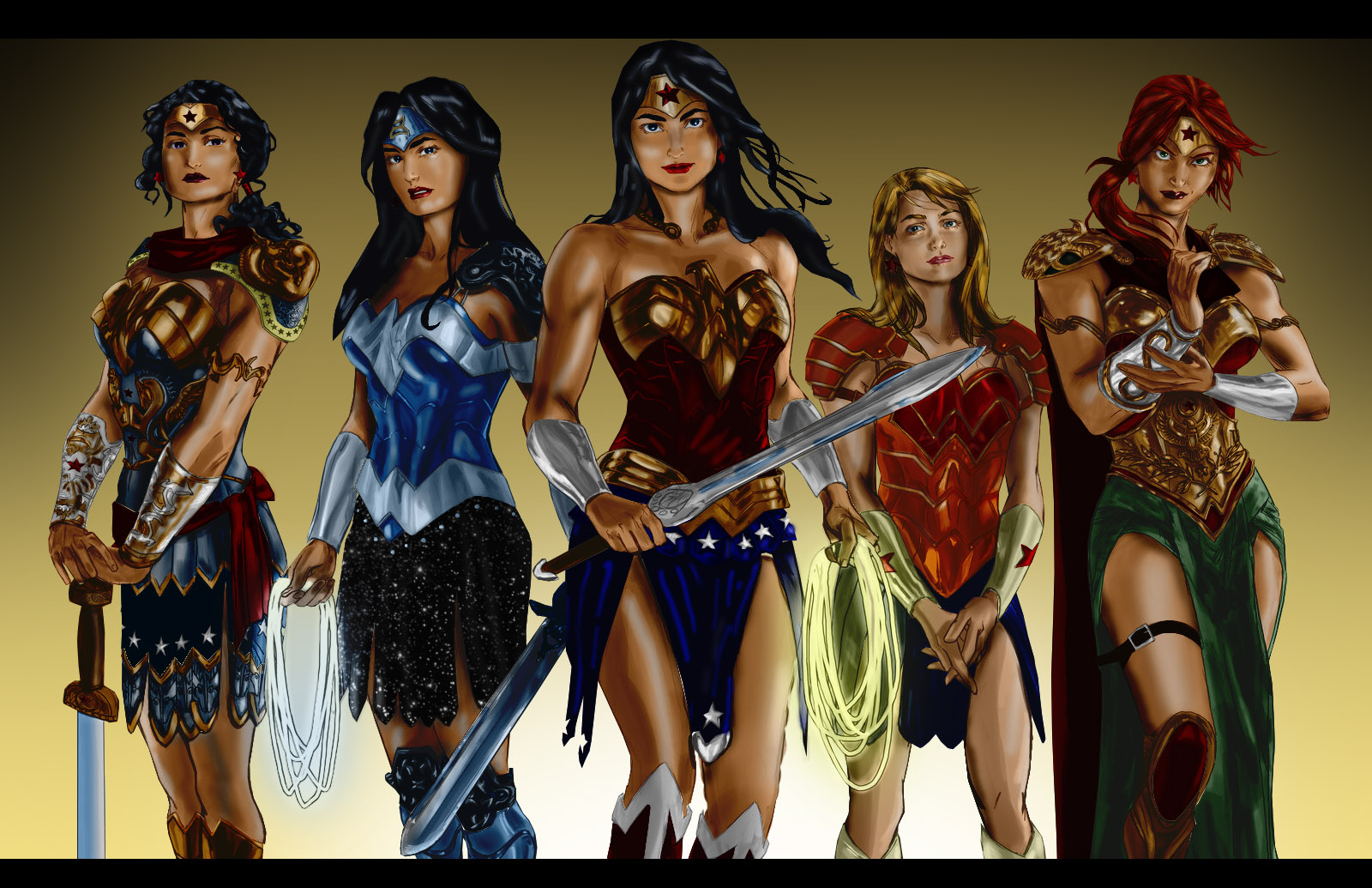 Wonder Women by minarho1 color by Chowy