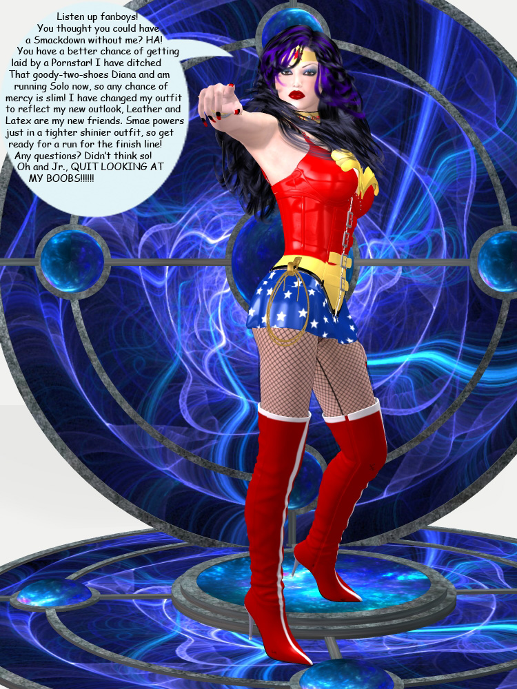 Smackdown Pin-up! Wonder Woman enters the race