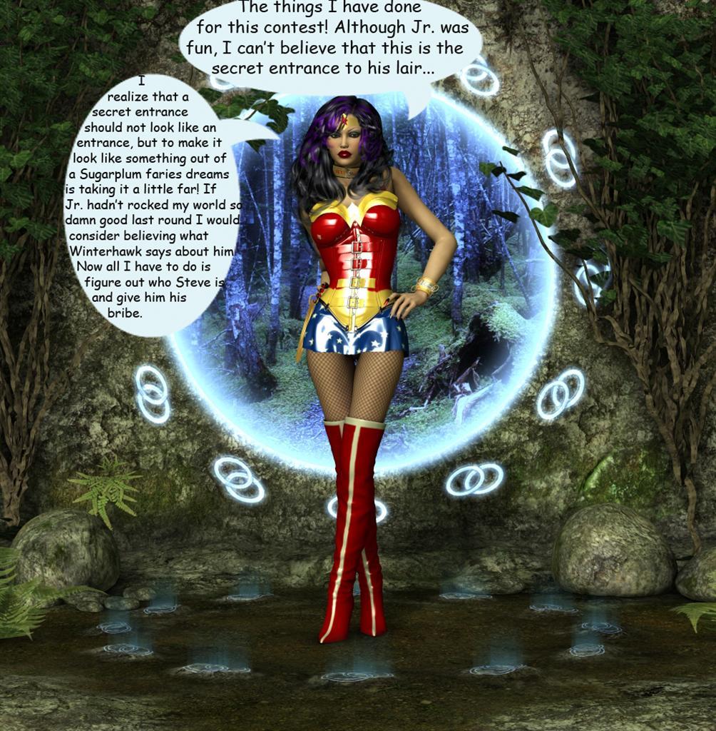 Smackdown 4 WonderWoman finally gets to Jr. lair