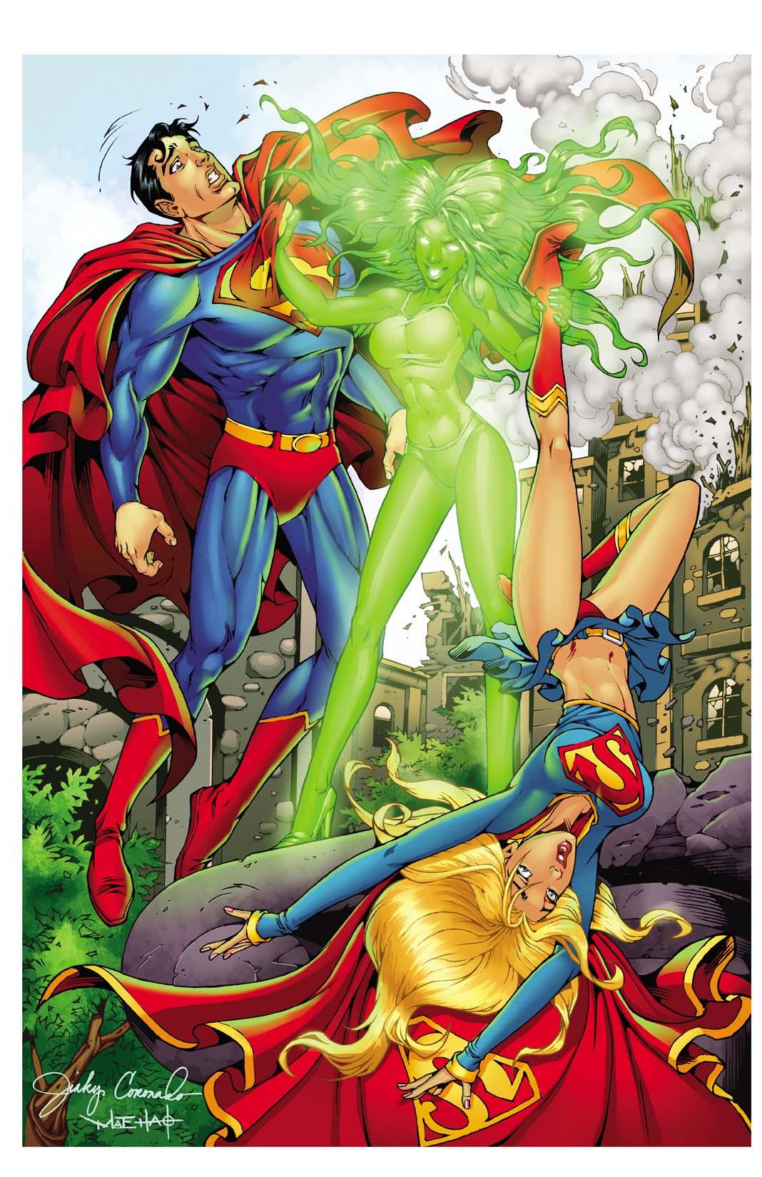 SUPERMAN & SUPERGIRL VS. KRYPTONITE GIRL!