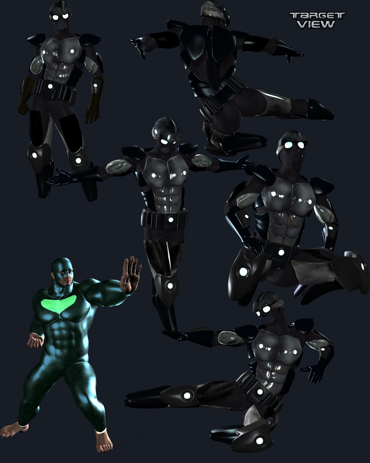 Techno Suit for Poser