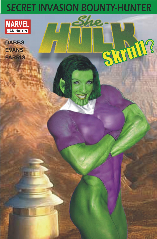 She-Hulk Skrull Comic Cover
