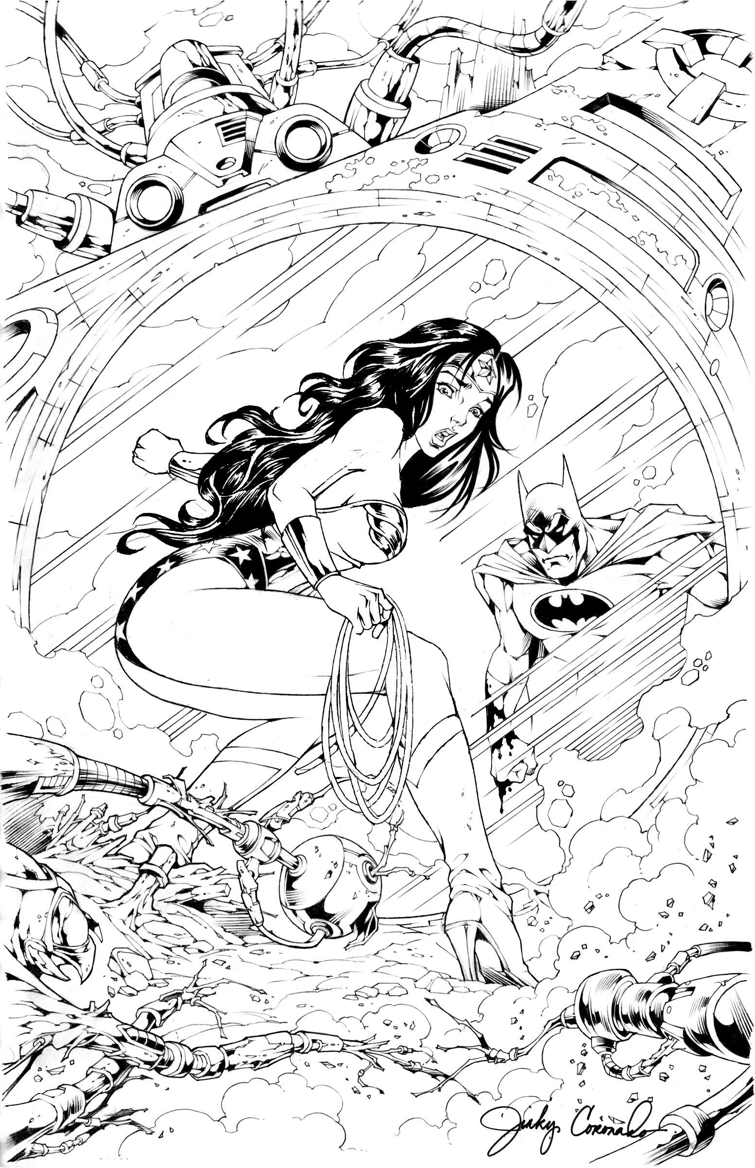 WONDER WOMAN & BATMAN! by Jinky Coronado