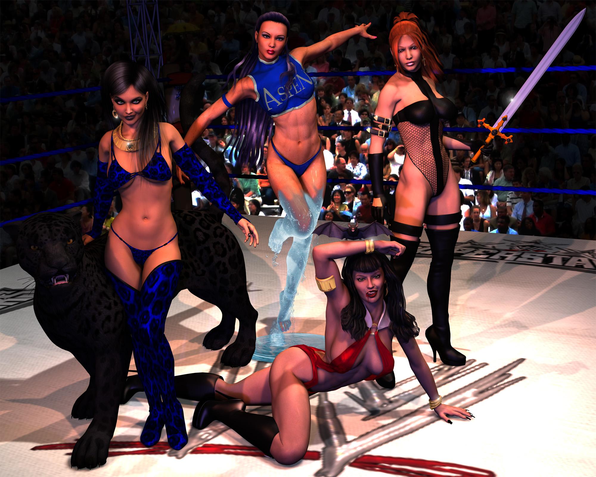 Wrestling Divas - team 3