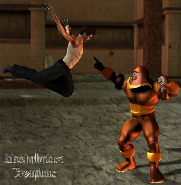 Wolverine Vs. Juggernaut