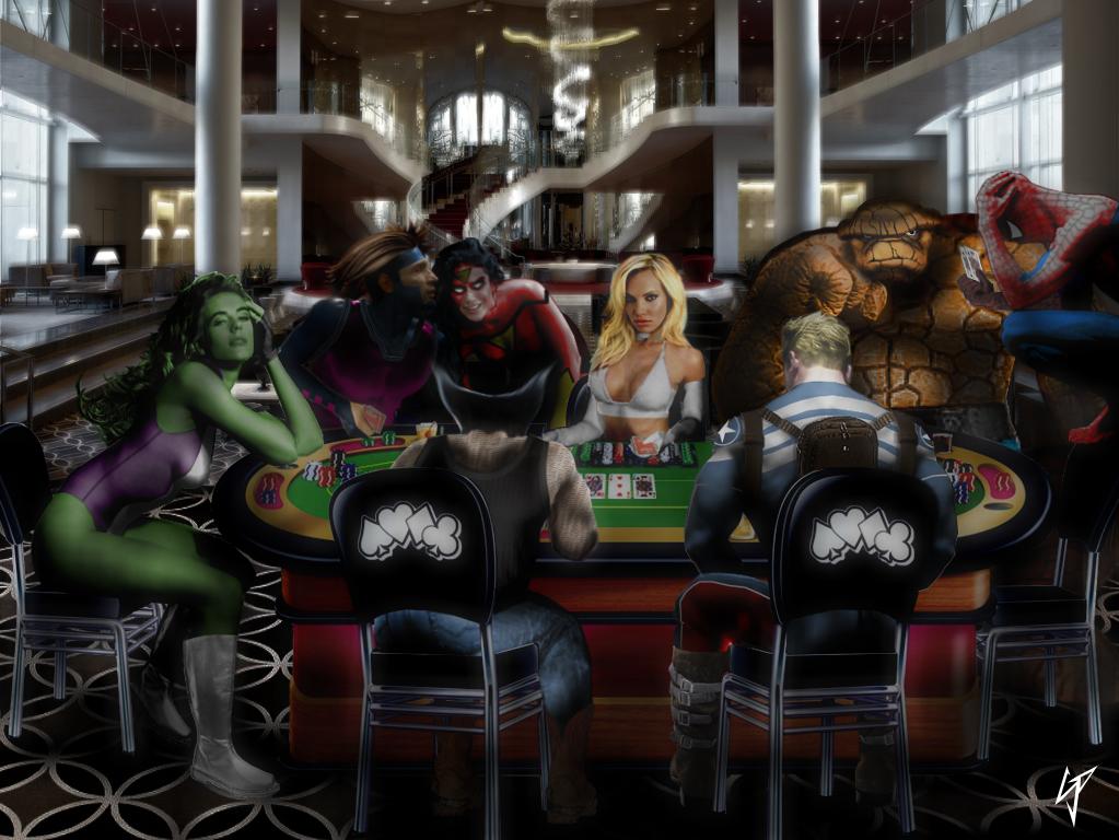 Poker at the Avenger's Mansion
