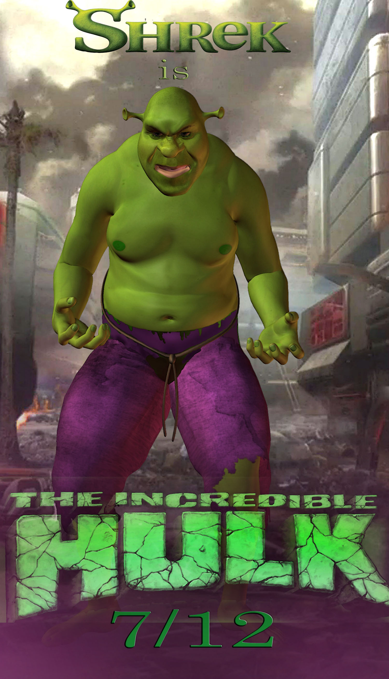 bad casting...shrek is the hulk