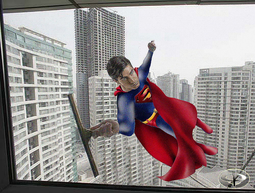 Day Job: Superman Window Cleaner