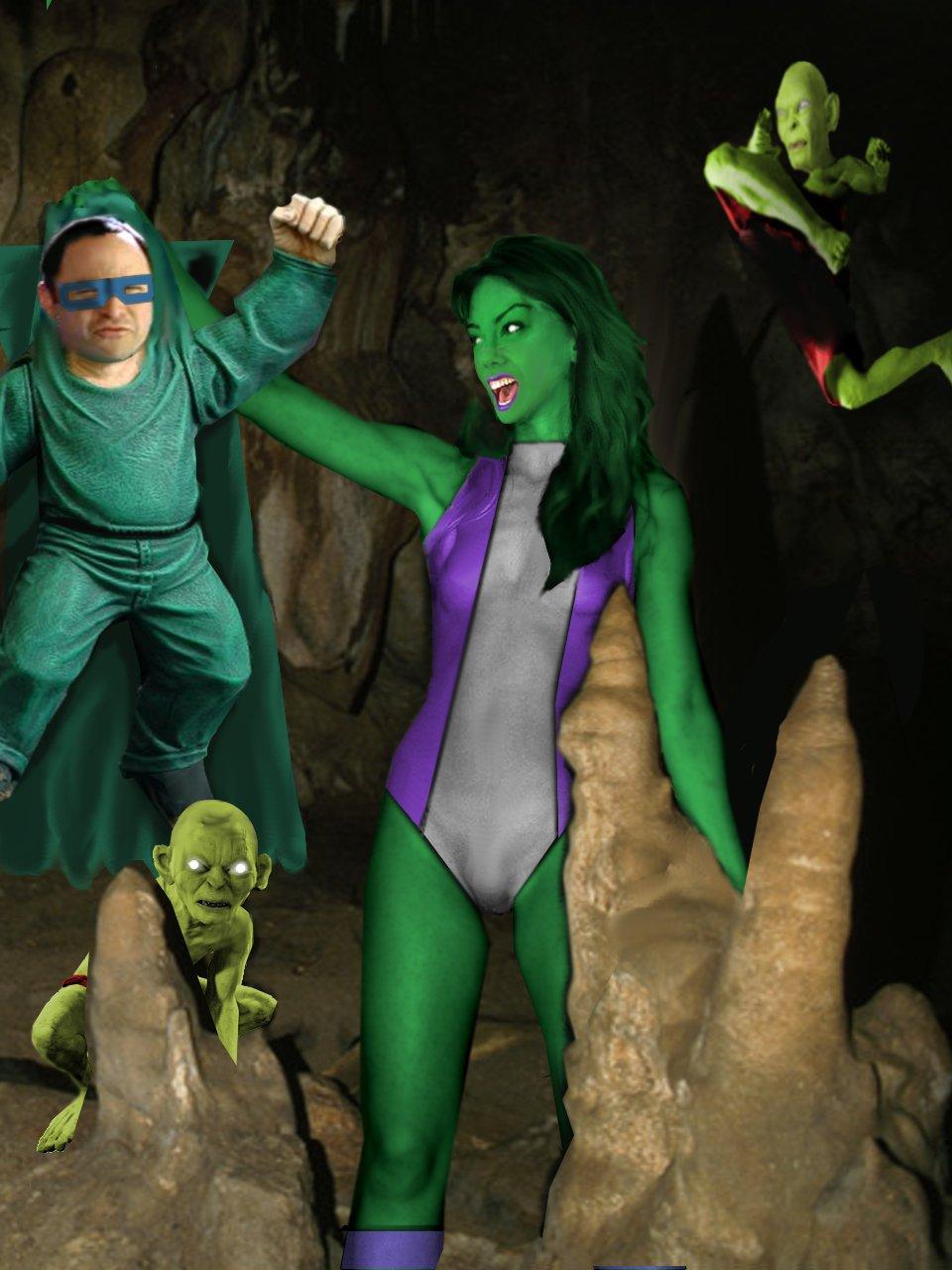 She Hulk vs the Mole Men