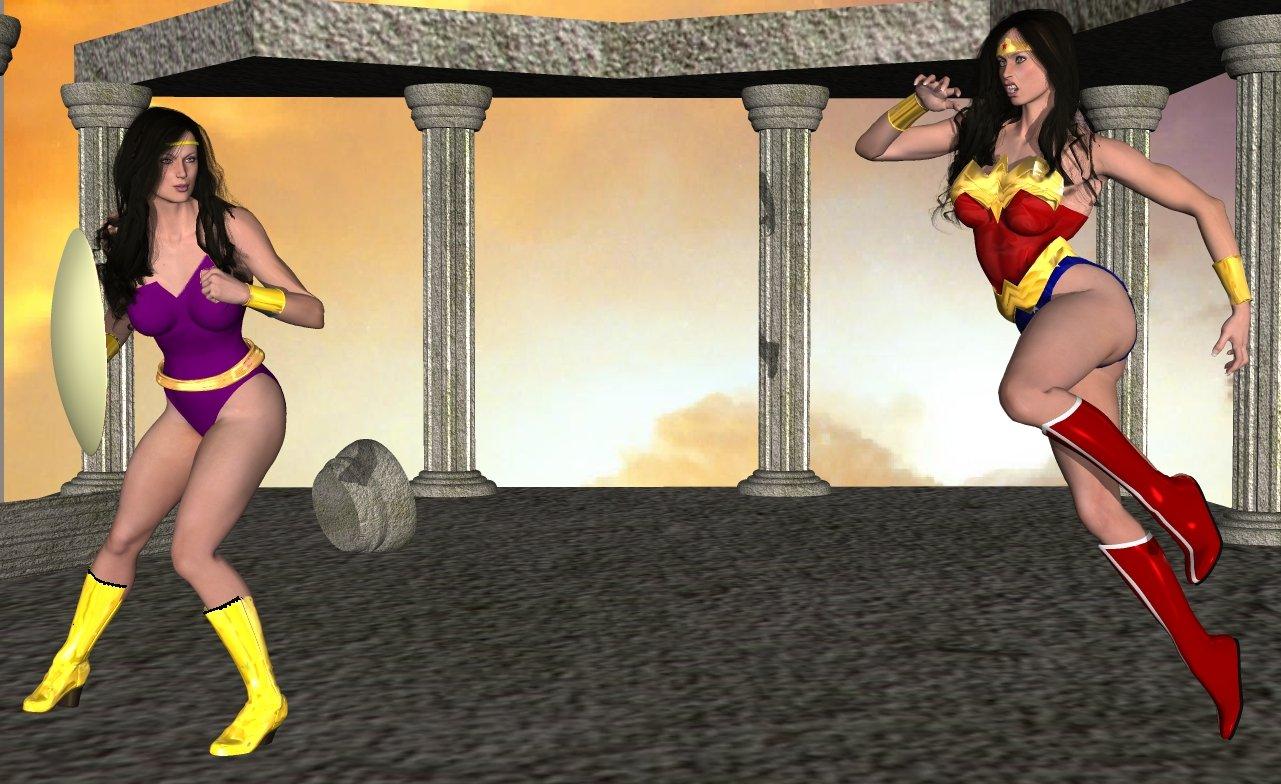 wonderwoman meets power princess