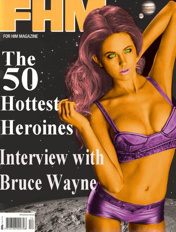 Starfire's FHM cover