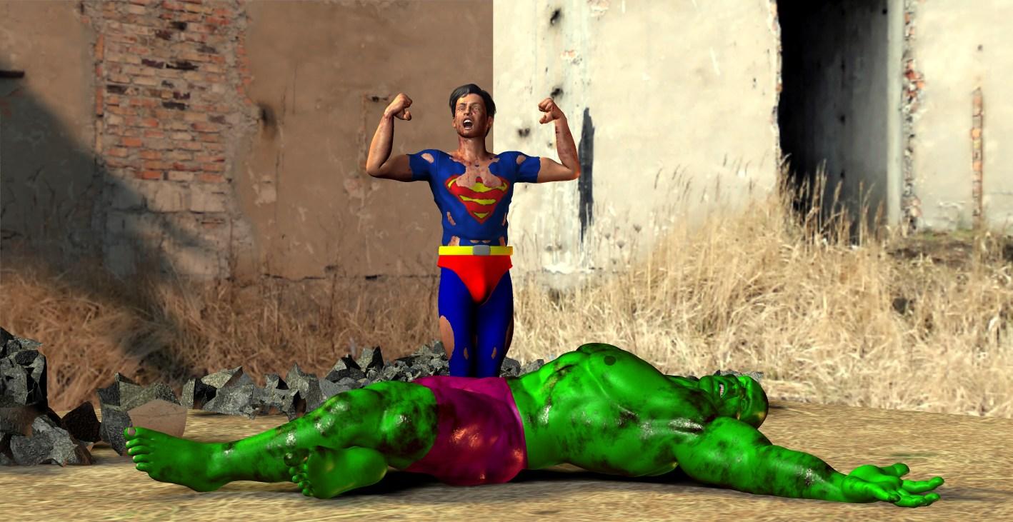 DC vs Marvel, Superboy vs Hulk
