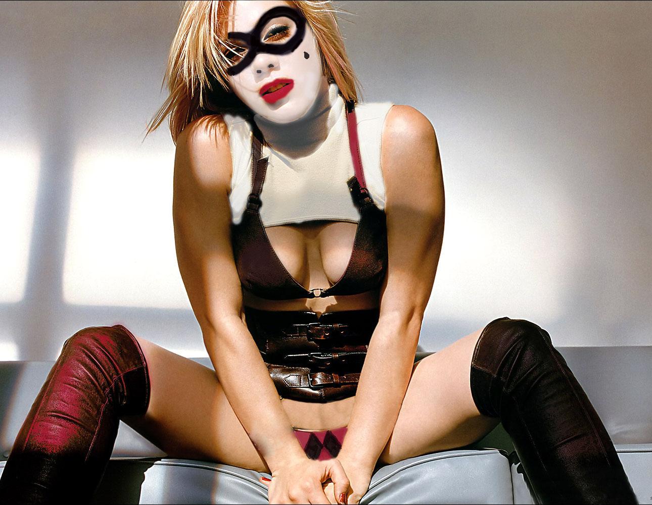 Pink as Harley Quinn