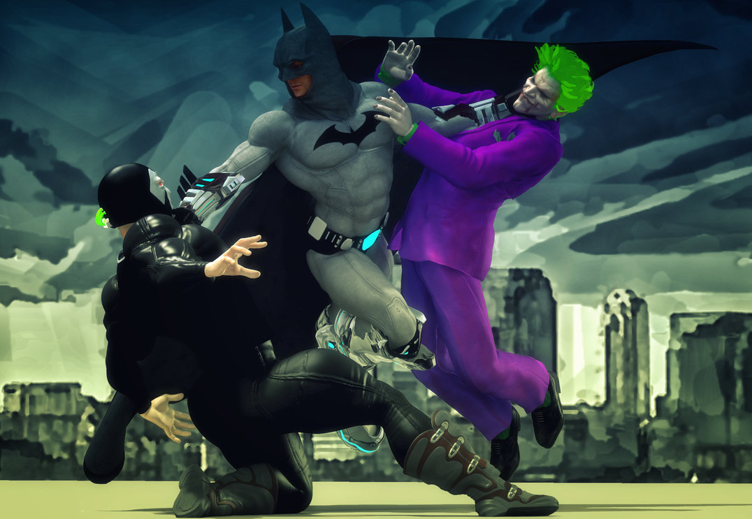 Batman vs Joker and Bane