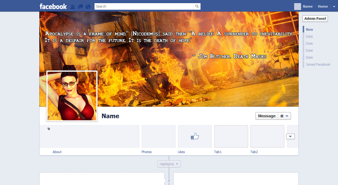 FB Cover for a friend