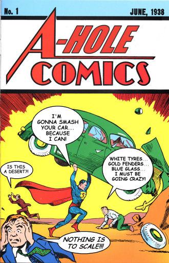 Coverflip challenge: A-hole comics