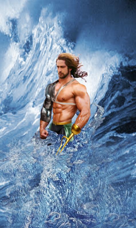 Aquaman at the sea