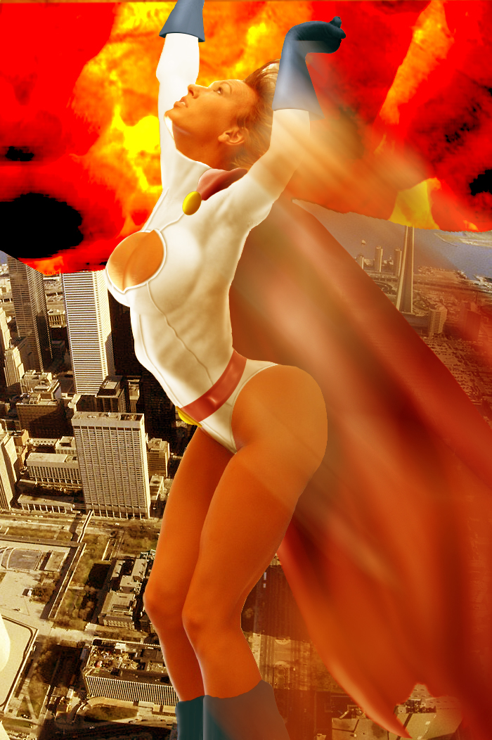 Power Girl saves the day