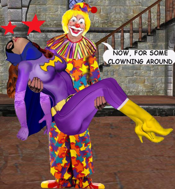 """""""BatGirl Kidnapped by Krusty the Clown!"""""""