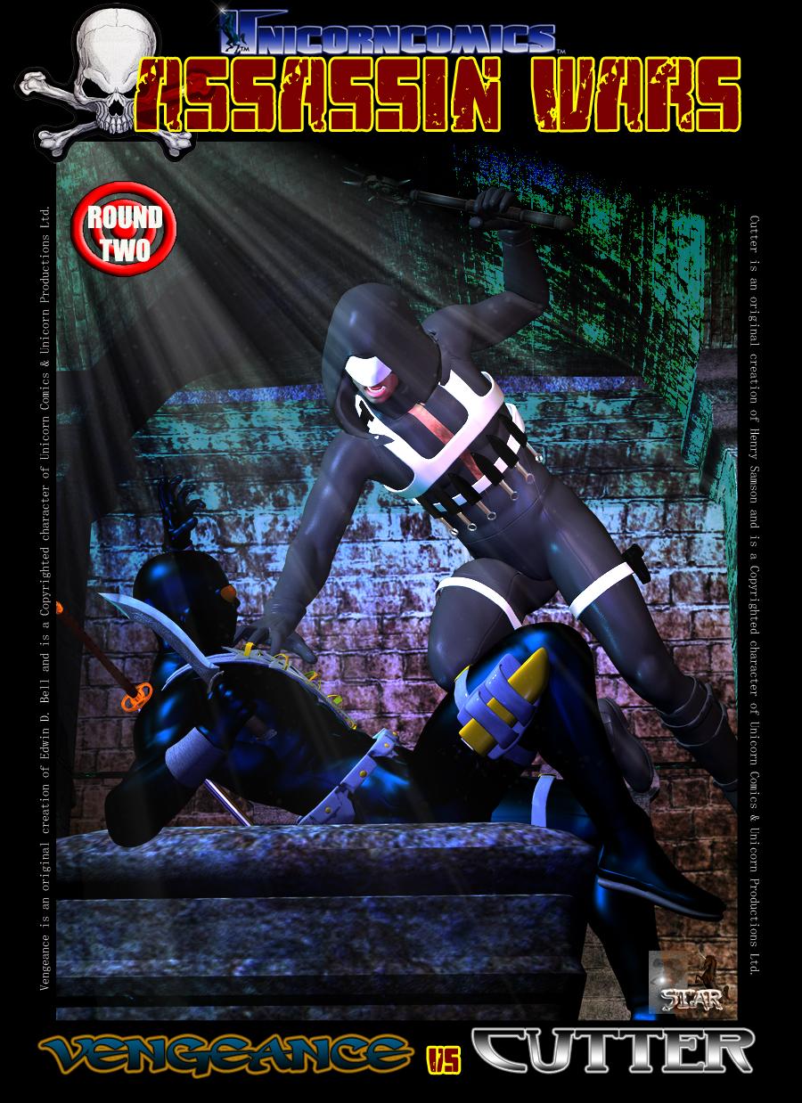 Unicorn Comics Assassin Wars Rd2 - Vengeance vs Cutter