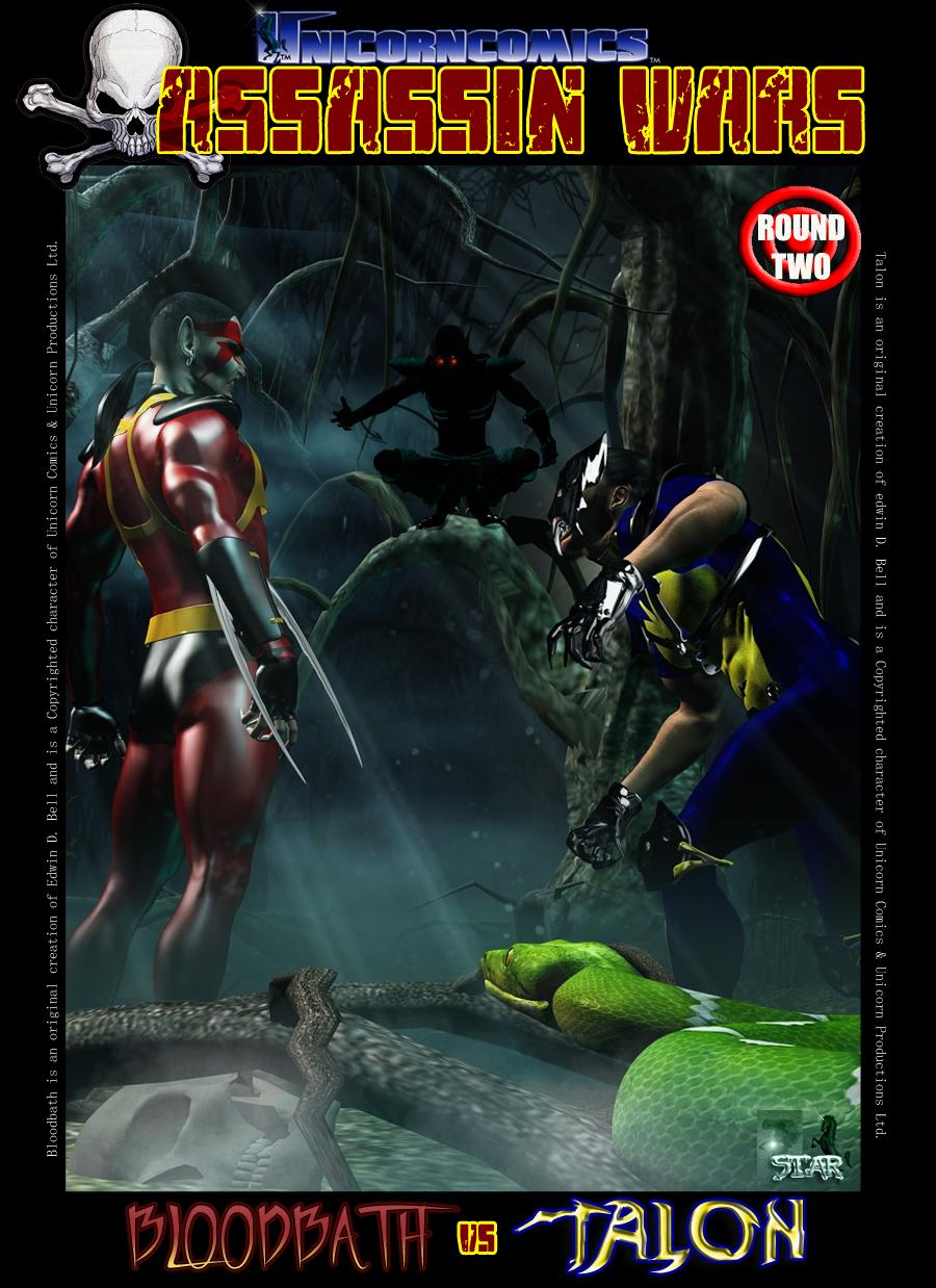 Unicorn Comics Assassin Wars Rd2 - Bloodbath vs Talon