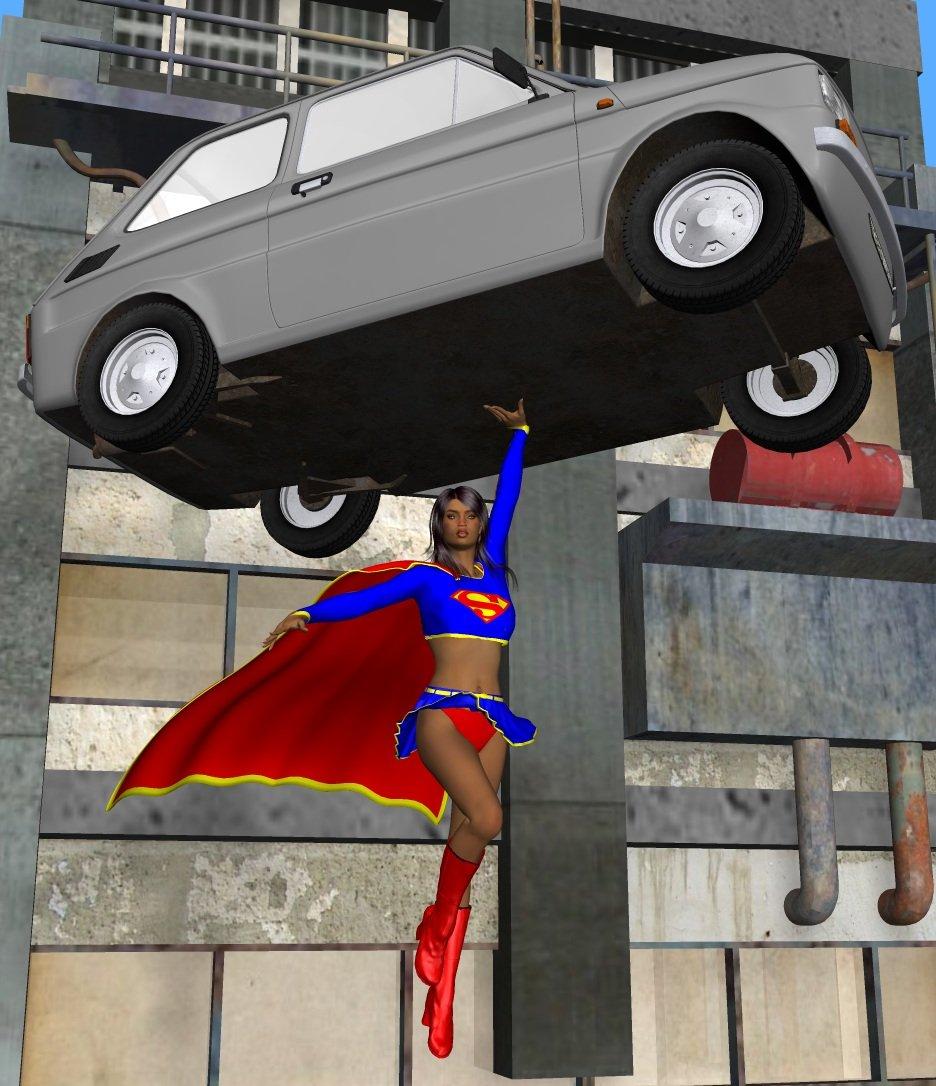 Supergirl vs. 1972  Fiat 126