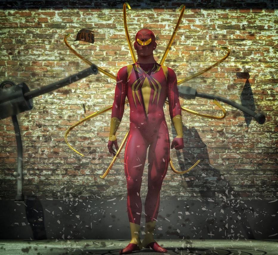 Iron Spiderman texture