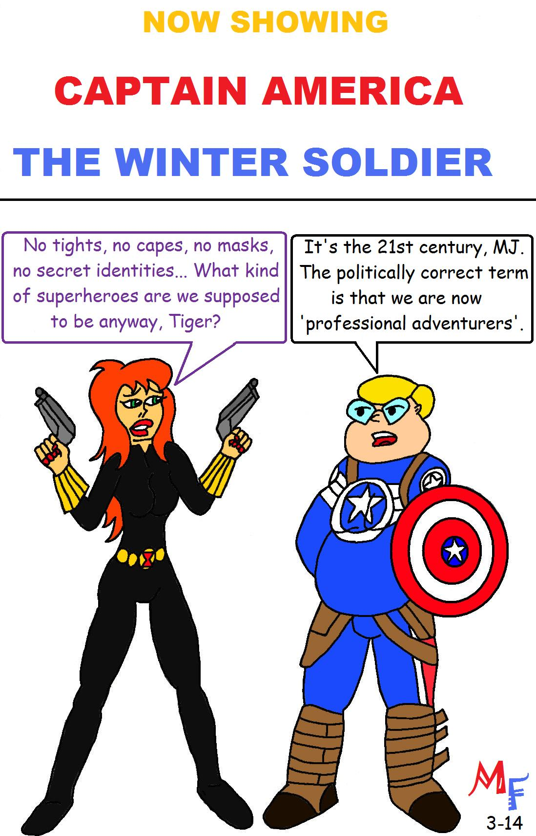 Fanboy and Mary Jane go see Captain America: The Winter Soldier