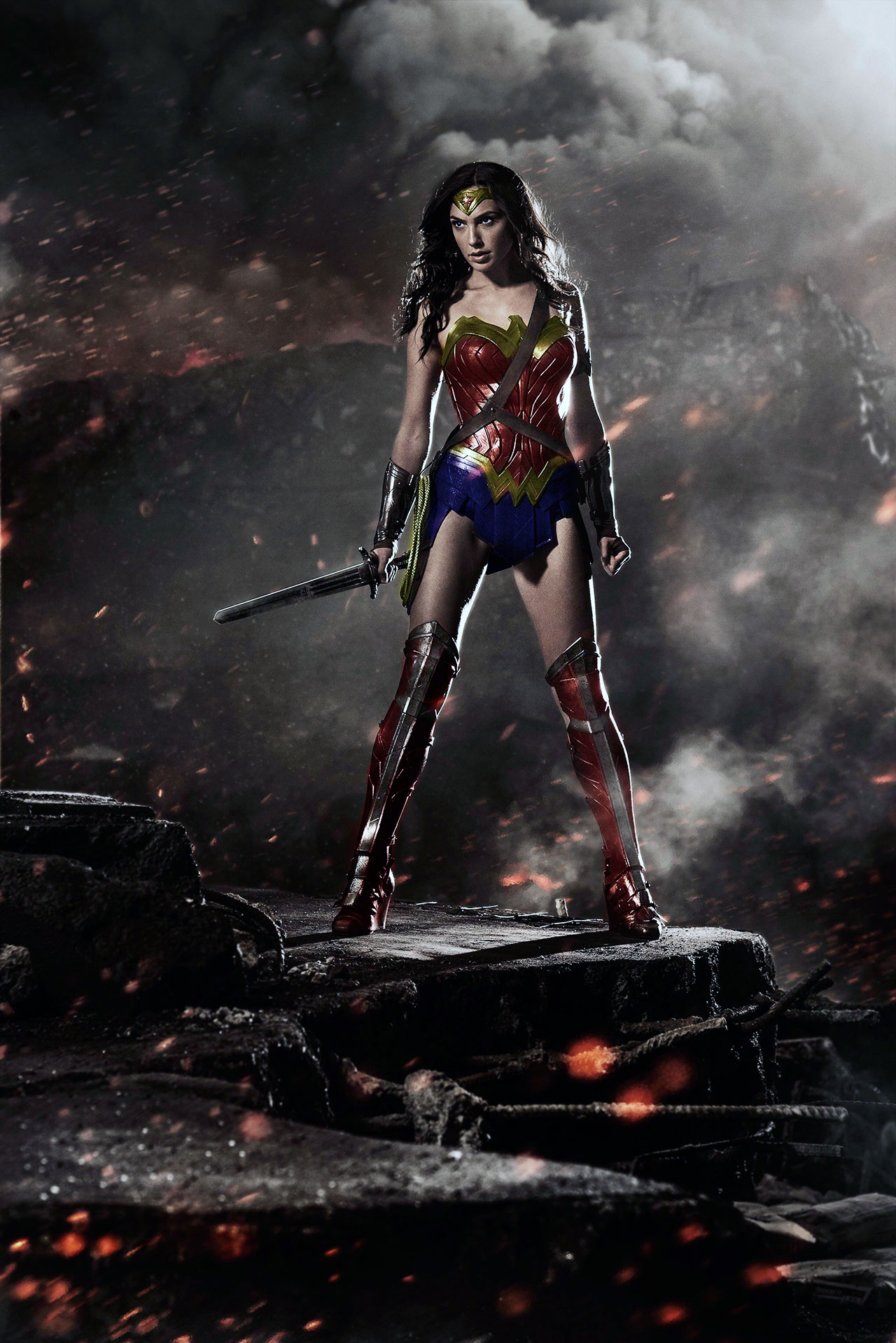 Gal Gadot as Wonder Woman with color