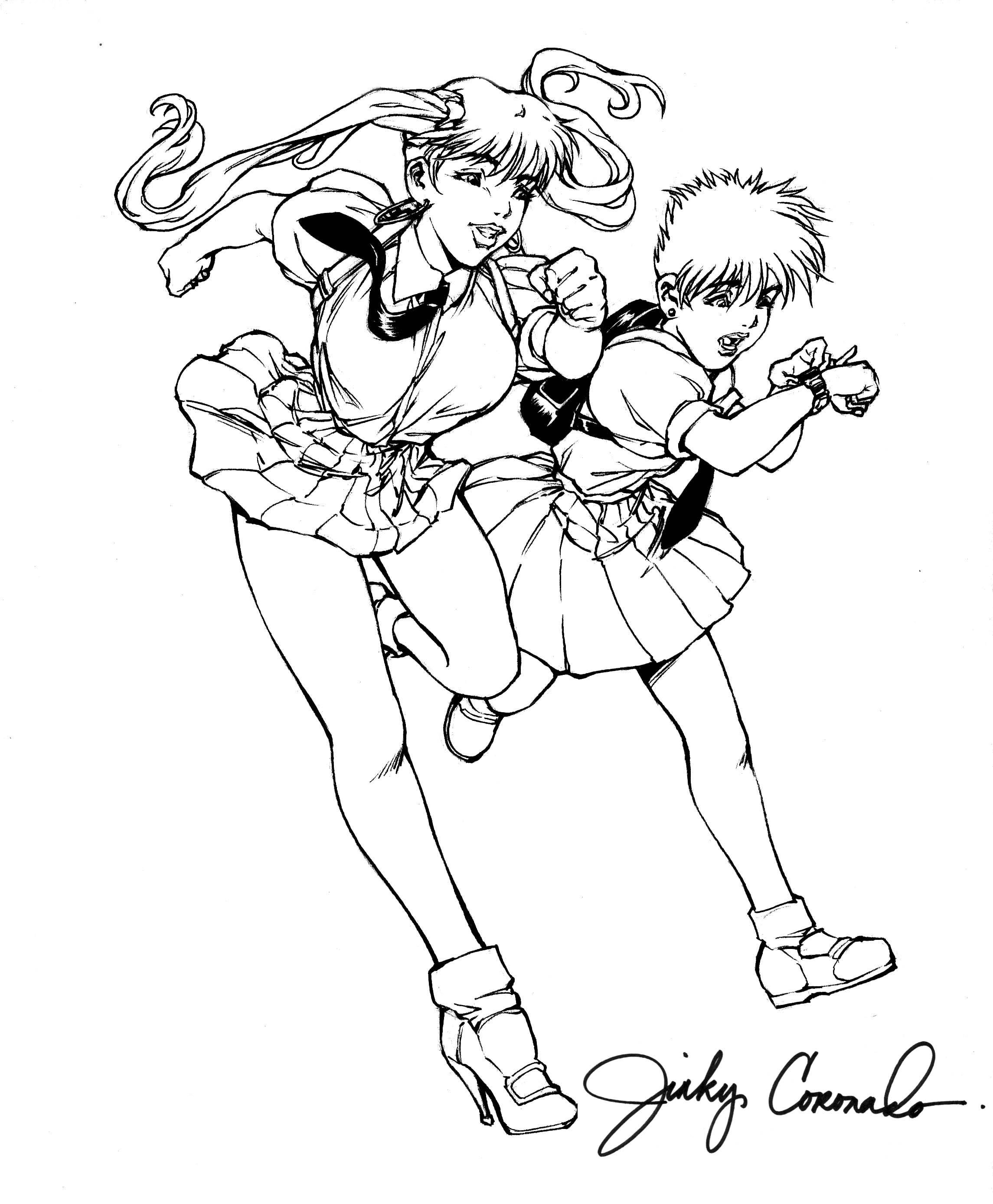 BANZAI GIRL AND KATIE J! by Jinky Coronado
