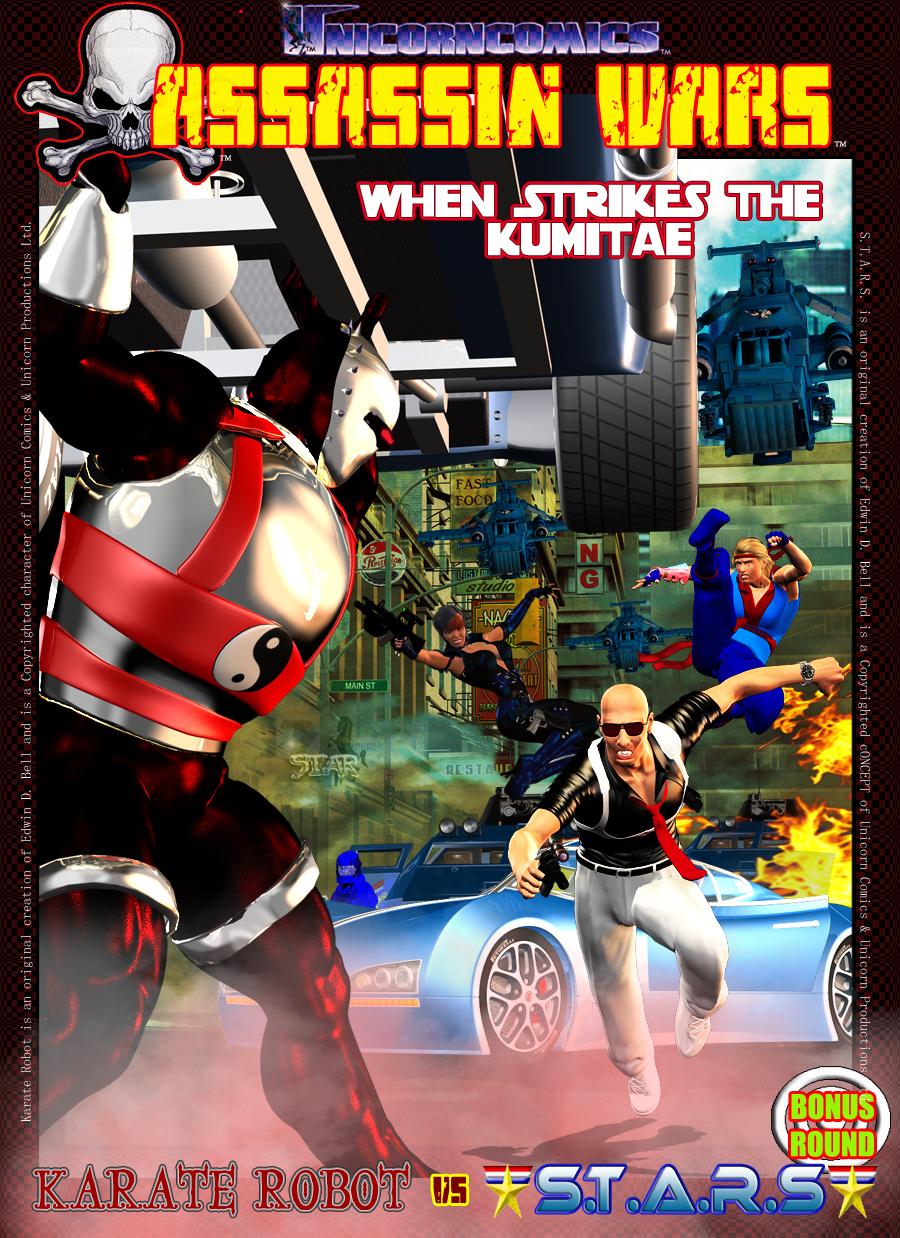 Unicorn Comics Assassin Wars XTRA - Karate Robot vs S.T.A.R.S