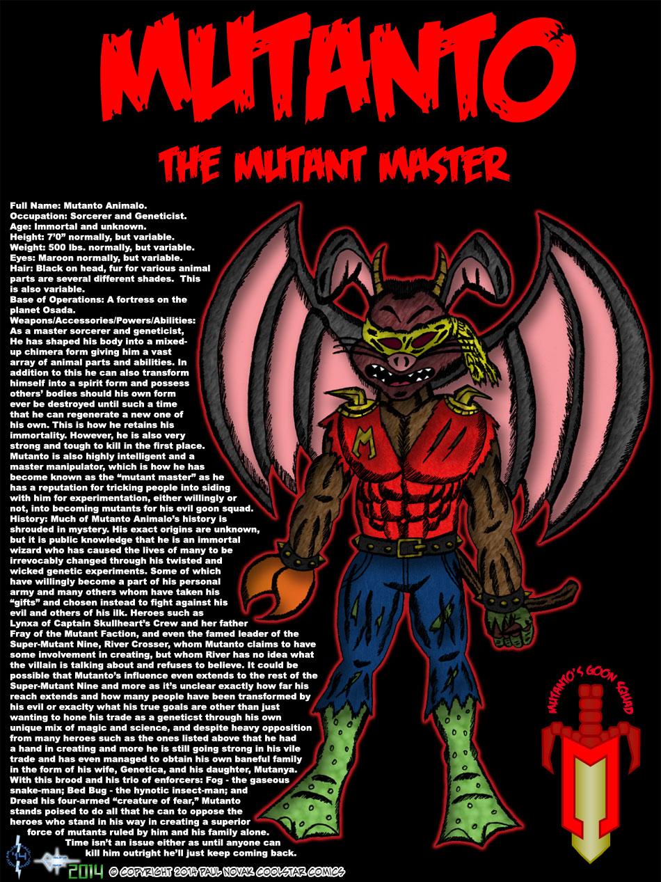 Mutanto the Mutant Master