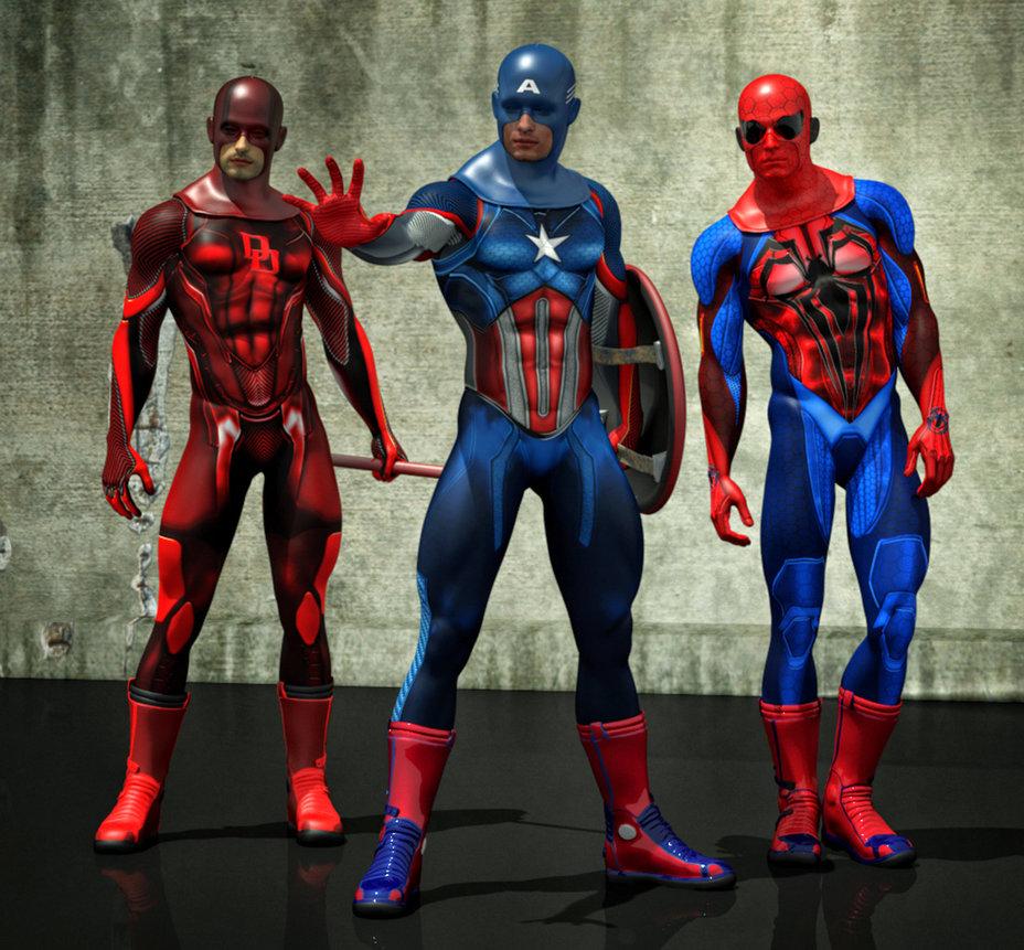Marvel superheroes new costumes