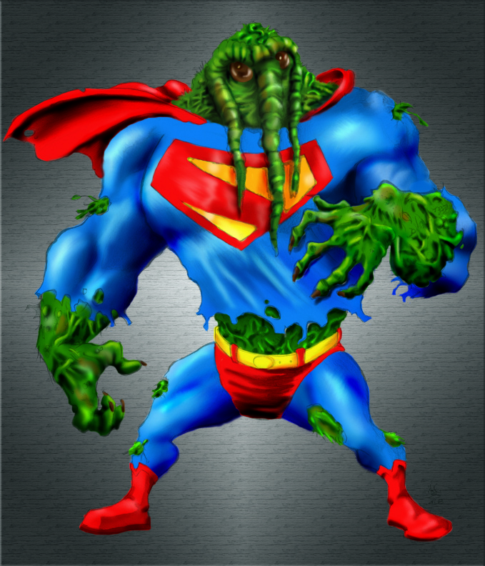 Super Man-Thing by Ker1 Colors by Tazman