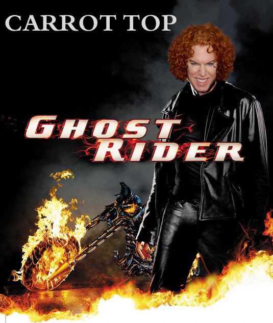 Bad casting 3: Carrot Top --- Ghost Rider