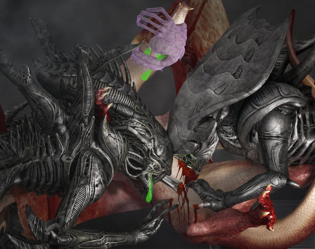 Aliens vs Dragon