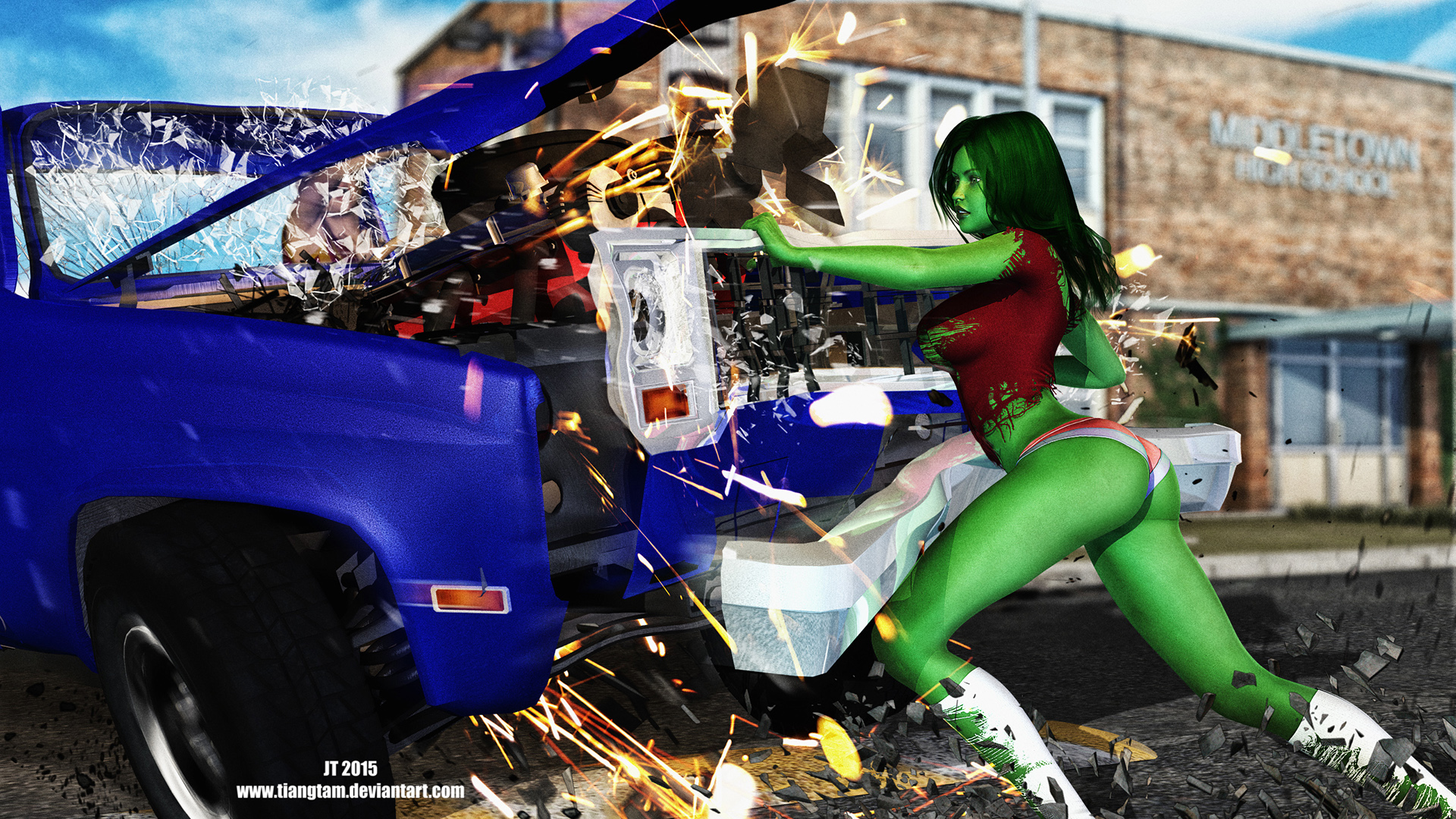 She-Hulk Speed Bump