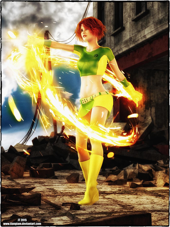 Rachel as Marvel Girl