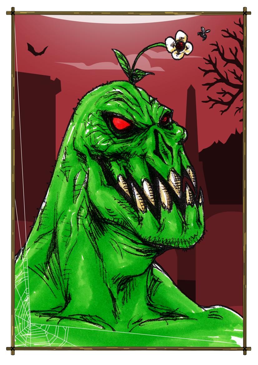 2014 - Horror Cards: Garden-Variety Monster