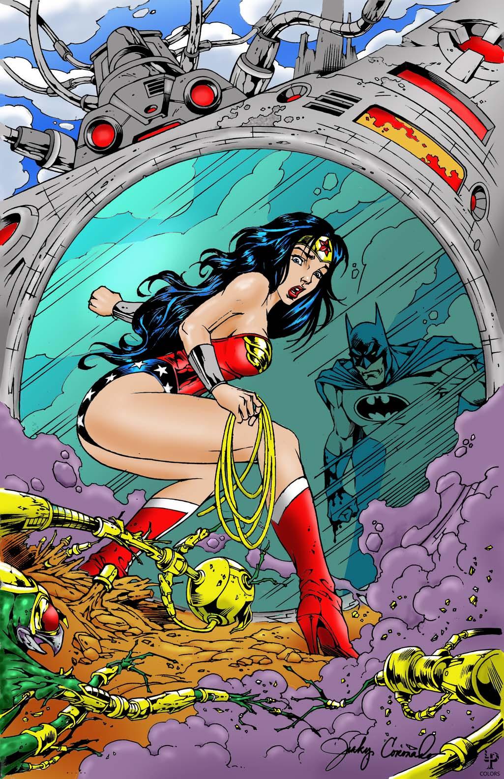 Jinky Coloring Challenge:  WONDER WOMAN & BATMAN!