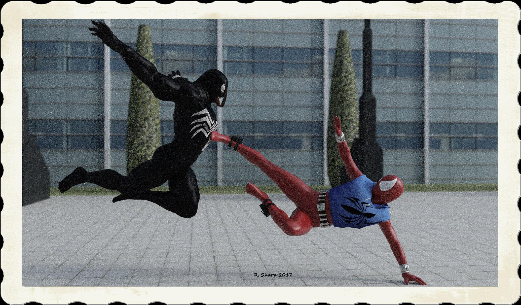 The Scarlet Spider VS Venom