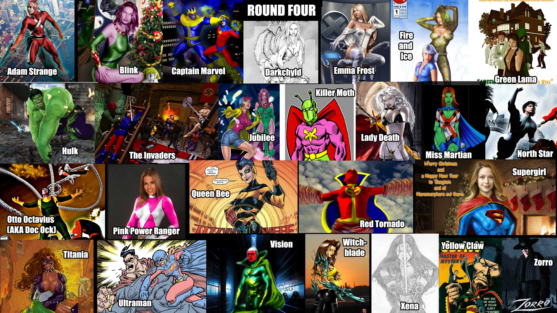 A-Z Comic Characters Name Game: Round Four