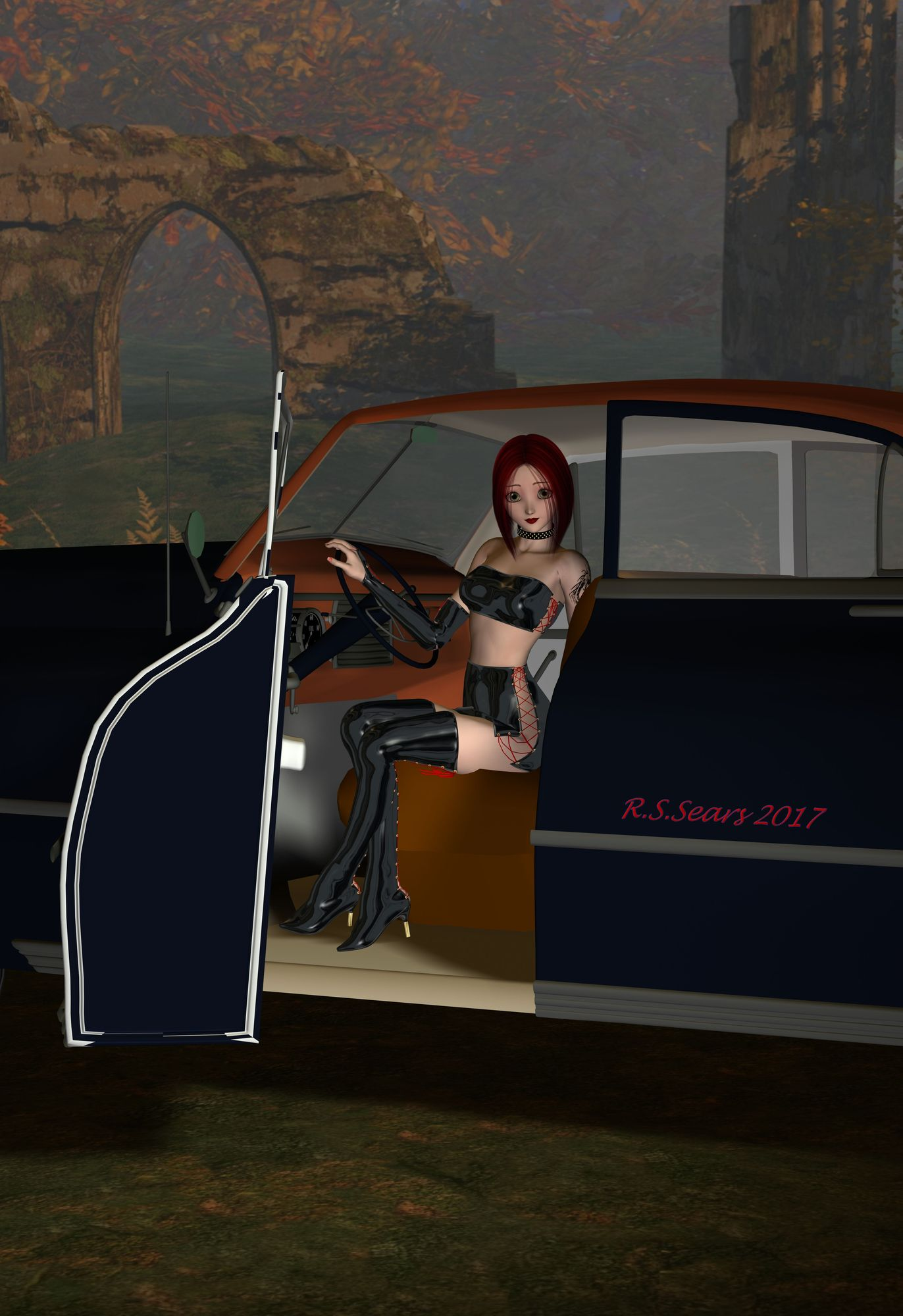 pinup and the packard