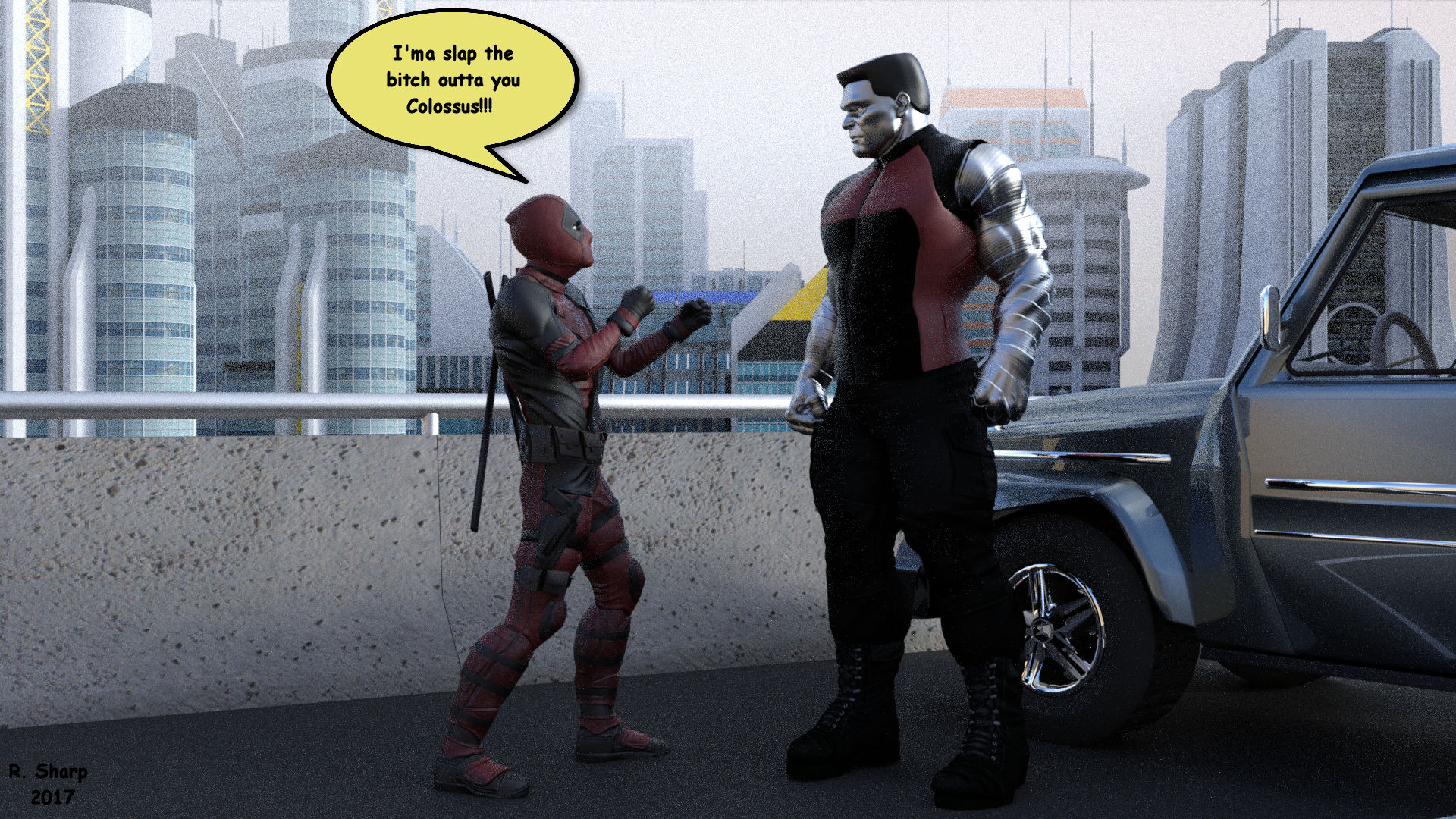 Deadpool VS Colossus