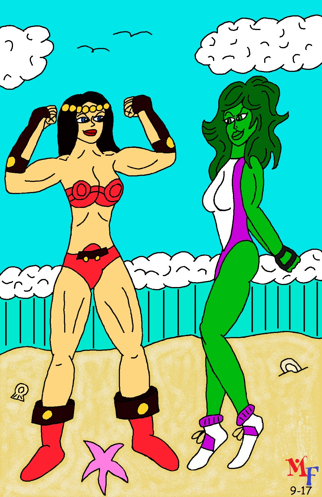 Muscle Beach Posedown